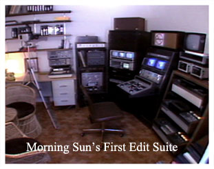 Morning Sun's first edit suite