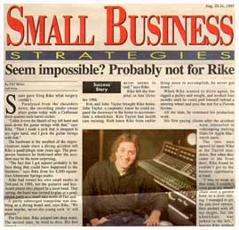 picture of the Small Business newspaper from 1987
