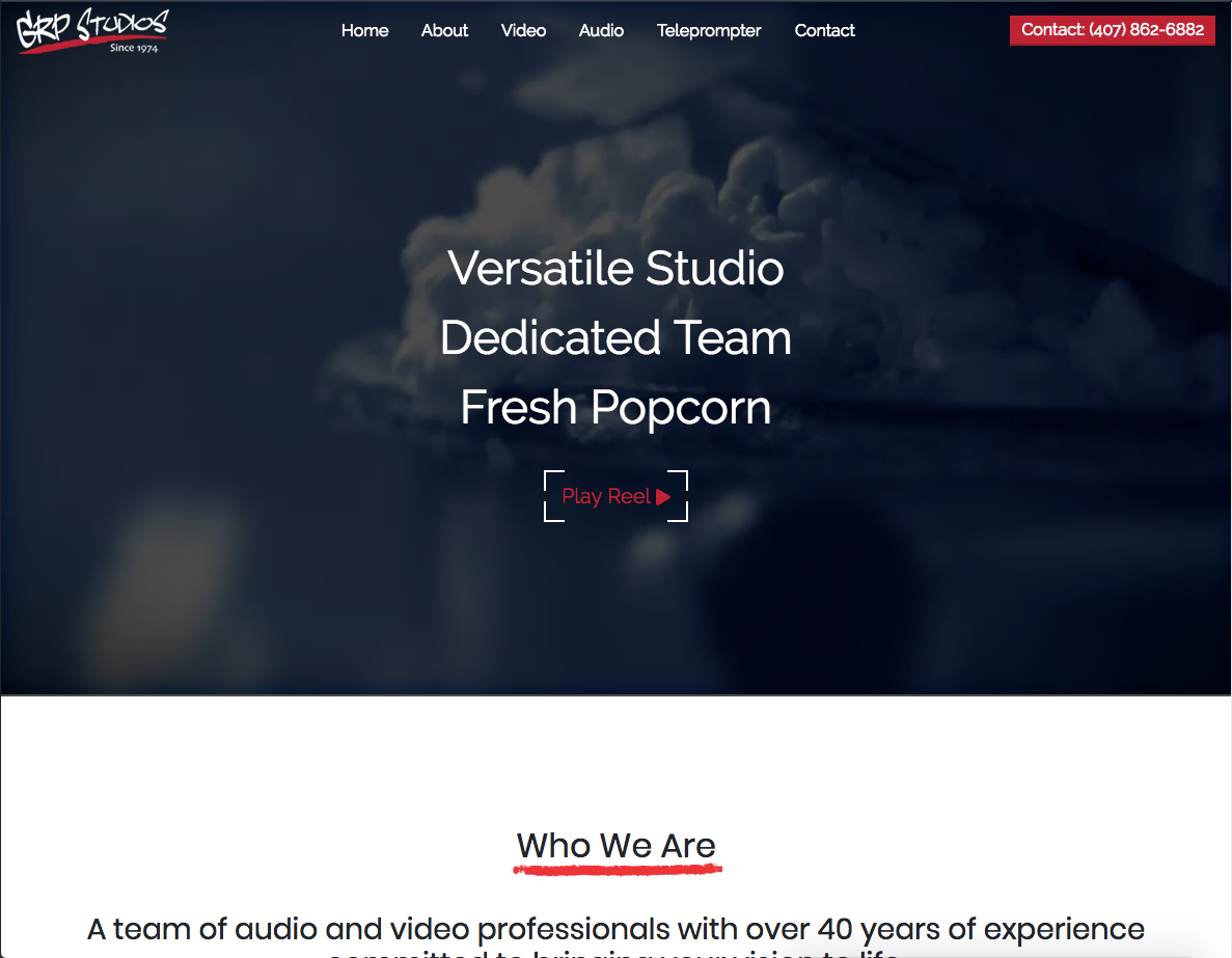 GRP studios home page