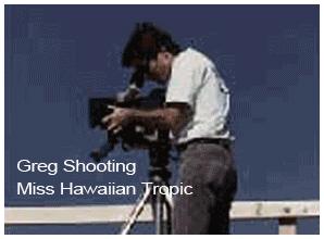 Greg Shooting Miss Hawaiian Tropic