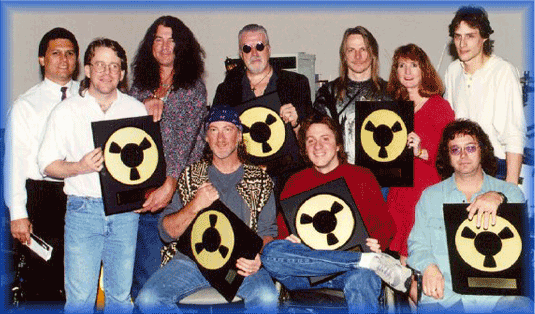 a group pictures with awards